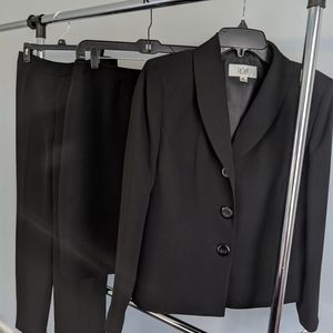 NWT 3pc Black Le Suit Jacket Skirt and Pant